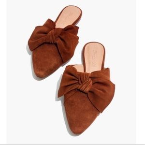 Madewell Suede Remi Bow Loafers